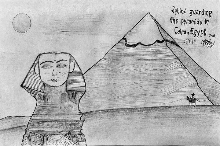 Sphinx and The Pyramids - Wei Ger