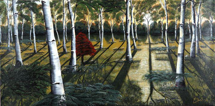 Sunrays Shine Through Forest - EminentArt