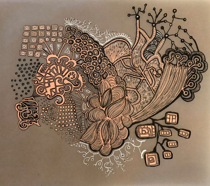 Human heart or a flower - Art by LPD