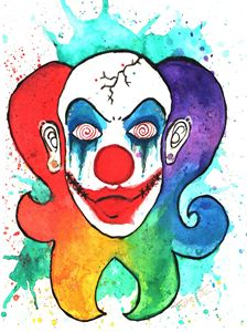 Rainbow Clown - Art by 2E