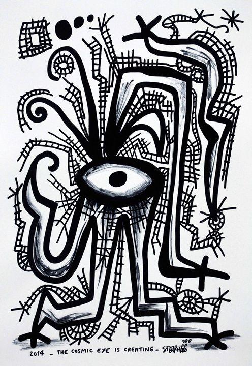 The cosmic eye is creating - stephff's art