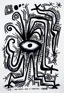 The cosmic eye is creating