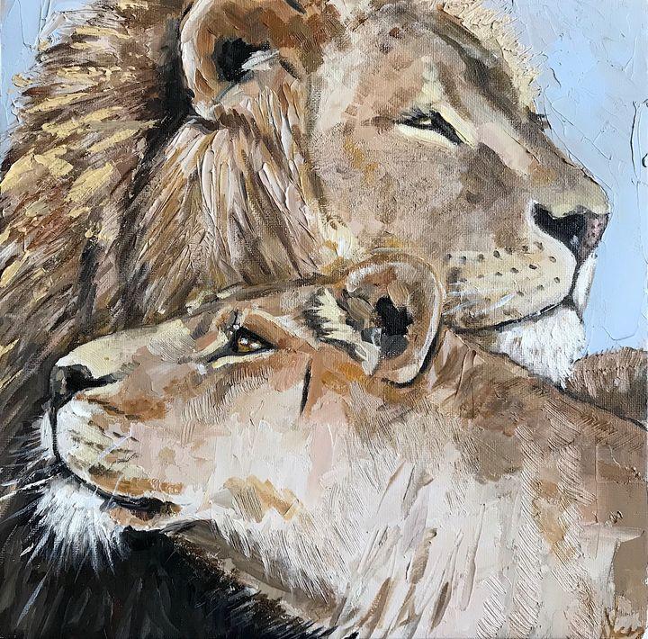 lion and lioness - Leysan Khasan