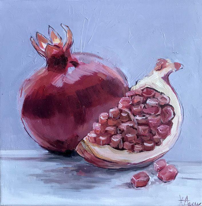 Pomegranates 5 Still Life - Leysan Khasan
