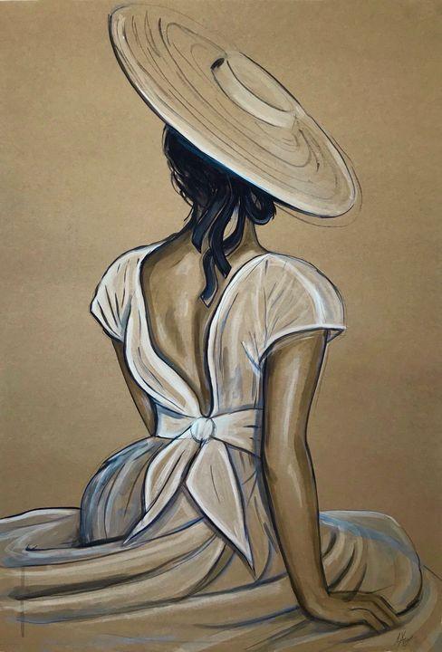 """Anna"" figurative painting - Leysan Khasan"