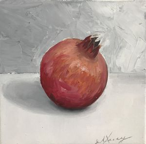 Pomegranate, still life