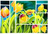 Summer tulips in watercolor
