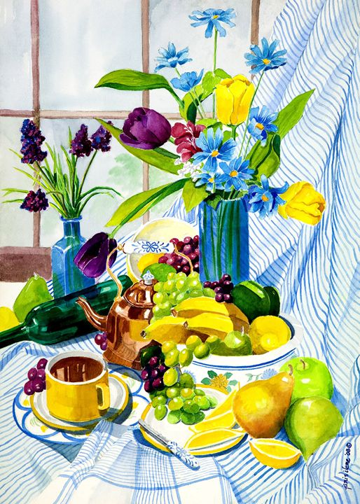 Morning Tea & Fruit - Janis Ilene Images