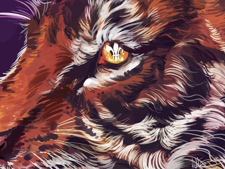 Tiger Fleur De Lis - Ashton Sunseri Illustration and Painting