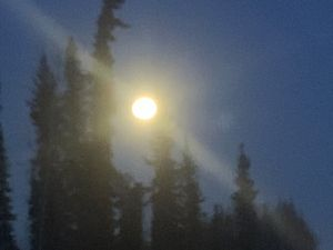 The North Pole moon light night