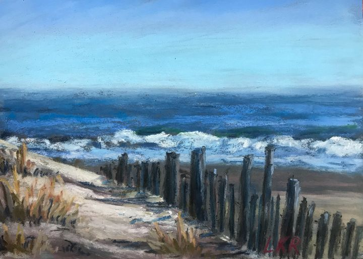 View of the beach - Linda Kruger Robinson Pastels