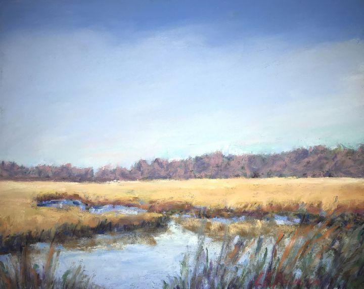 Autumn in  Dividing Creek - Linda Kruger Robinson Pastels