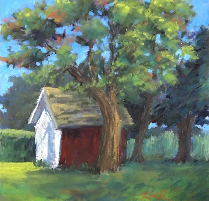 View from the yard - Linda Kruger Robinson Pastels