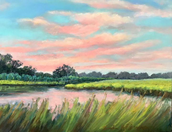 Dividing Creek - Linda Kruger Robinson Pastels