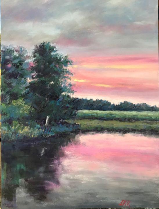 Evening on the Maurice River - Linda Kruger Robinson Pastels