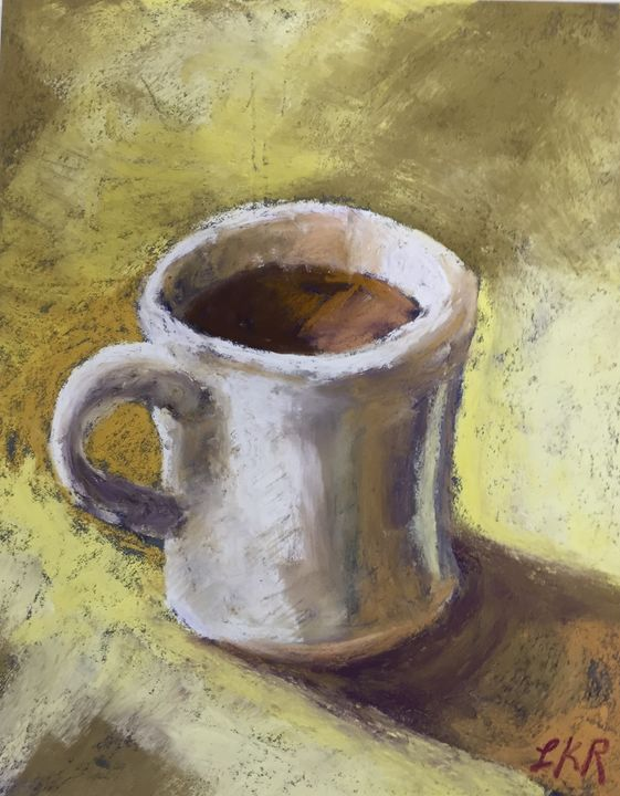 Morning Coffee - Linda Kruger Robinson Pastels