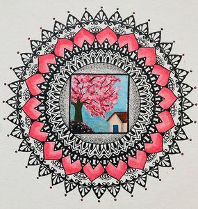 Mandala- Cherry Blossom