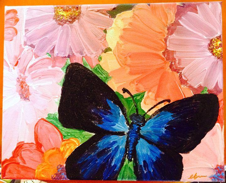 Flowers and Butterfly - EK-Wonderland