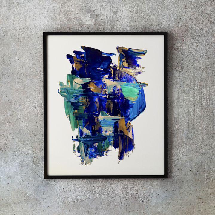 Bleu Waves #2 - Mimmo
