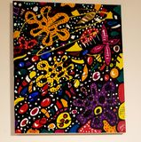 Acrylic stretched canvas