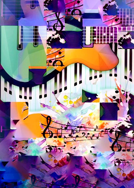 Infectious melody graffiti abstract - SilverPixieArt