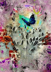Urban butterfly vibes abstract