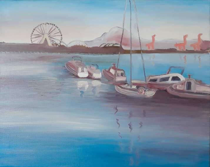 Blue Elliot Bay - Nine Peaks Art
