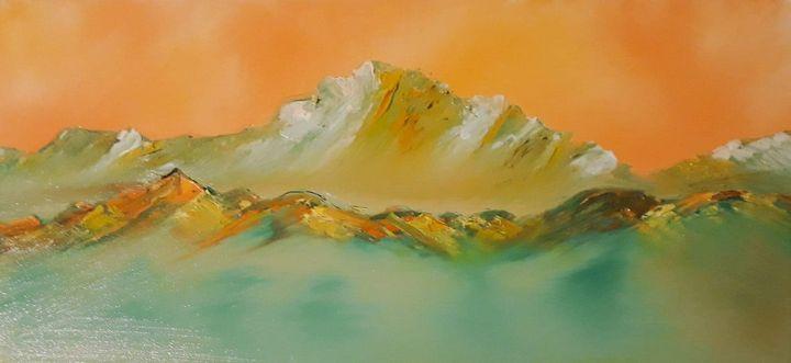 Orange Olympic Profile - Nine Peaks Art