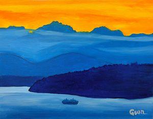 Blue Sound Sunset