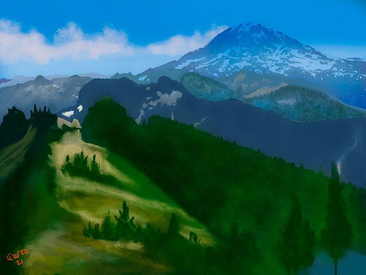 Mount Rainier National Park - Nine Peaks Art