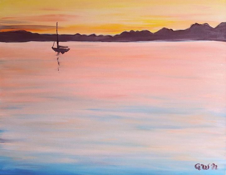 Puget Sound Sunset - Nine Peaks Art
