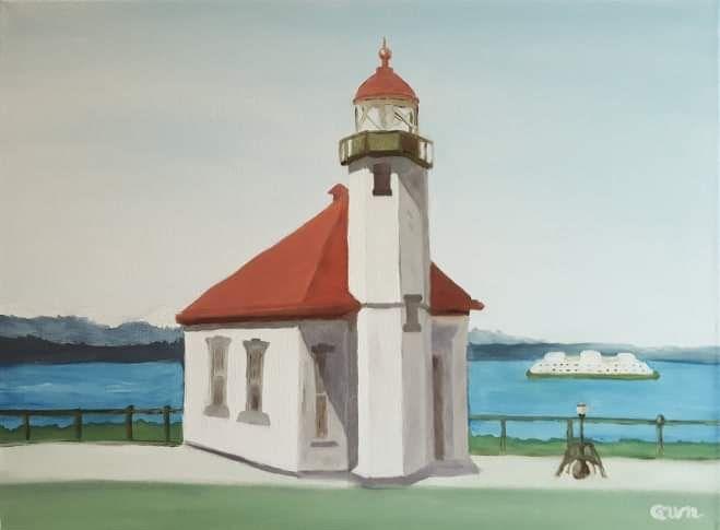 Alki Point Light House - Nine Peaks Art
