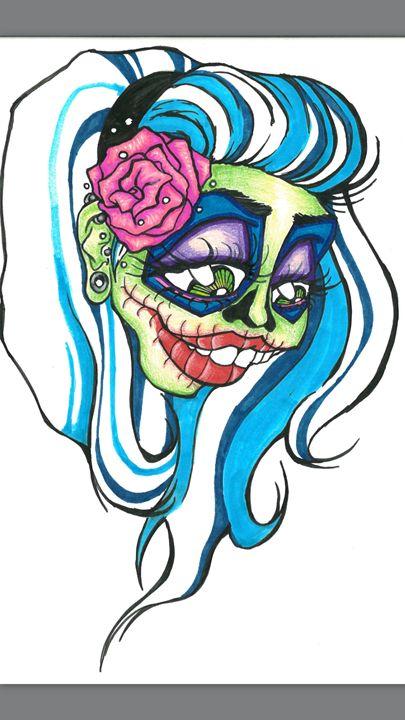Shrunken Sugar Skull - Jami Patrick
