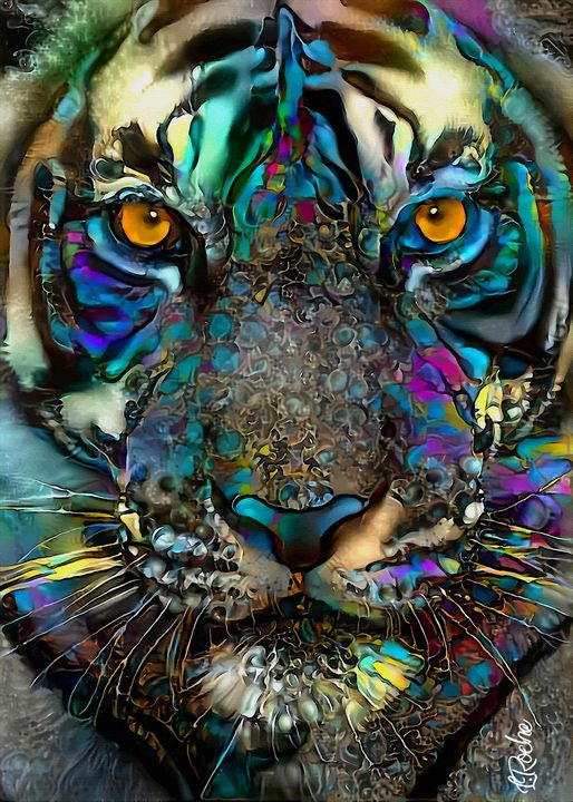 Rokko, tiger -70x50 cm - Léa ROCHE