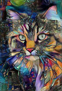 Nikkos, cat - 70x 48 cm