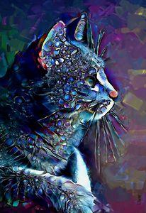 Mazzoo, cat -70x50 cm