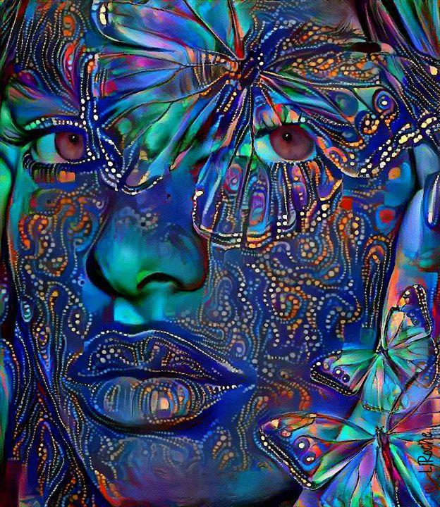 Linda Gypsy - 70x60 cm -  Mix media - Léa ROCHE