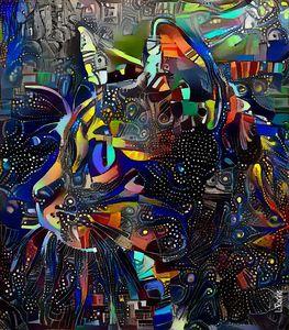 Rizzo, cat - 80x70 cm - Léa ROCHE