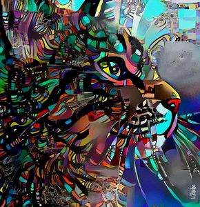 Artemis, cat - 68x60 cm - Léa ROCHE