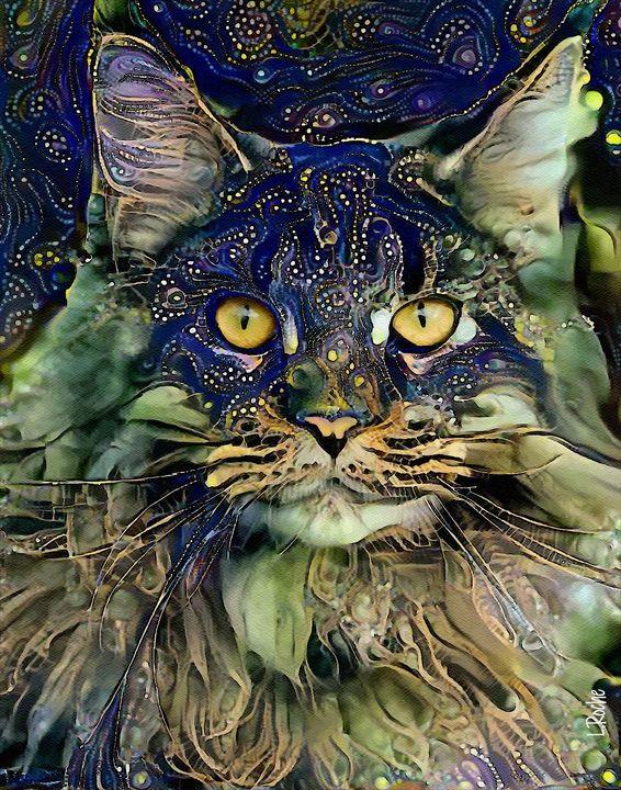 Sambaa, cat - 70x50 cm - Léa ROCHE