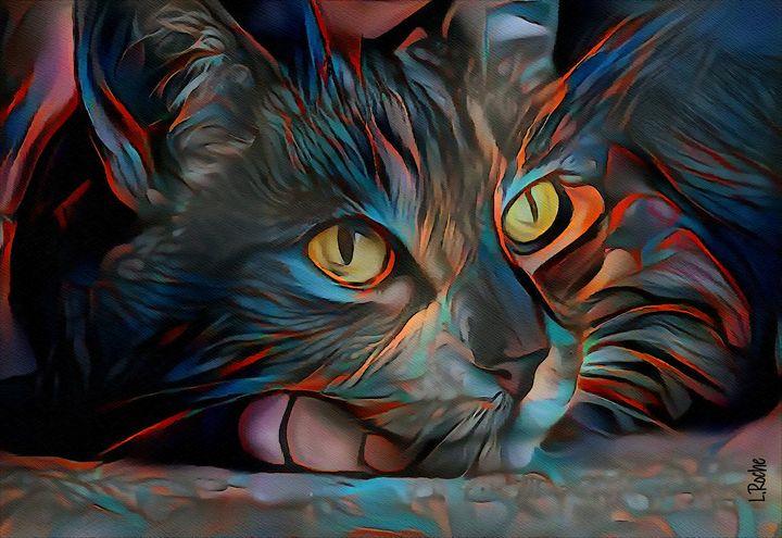 Patxi, cat - 80 x 55 cm - Léa ROCHE