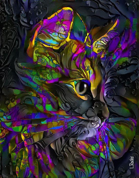 Hanzy, cat - 70x55 cm - Léa ROCHE