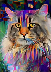 Barlon, cat - 70x50 cm