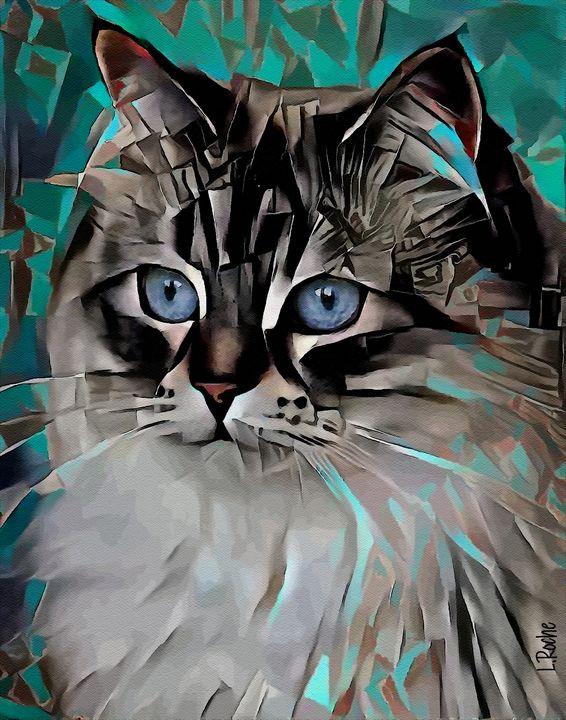 Valentina, cat - 70x55 cm - Léa ROCHE
