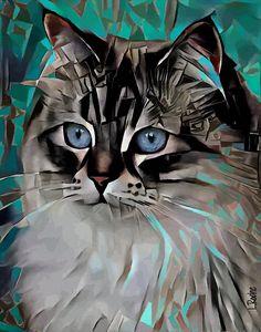 Valentina, cat - 70x55 cm