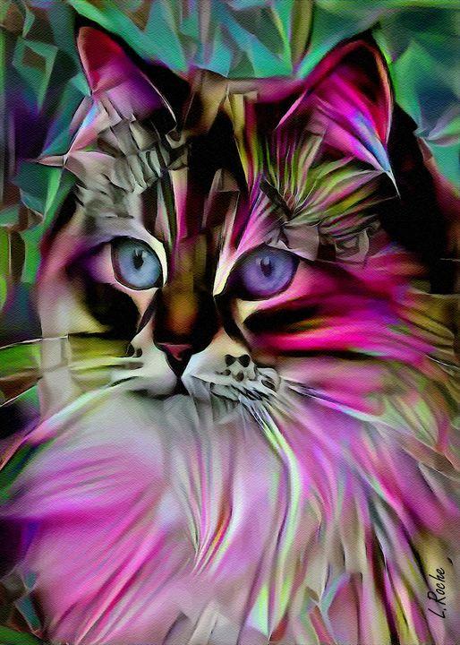 Esty, cat - 70x50 cm - Léa ROCHE