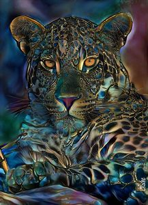 Laria, 70x55 cm - leopard - Léa ROCHE