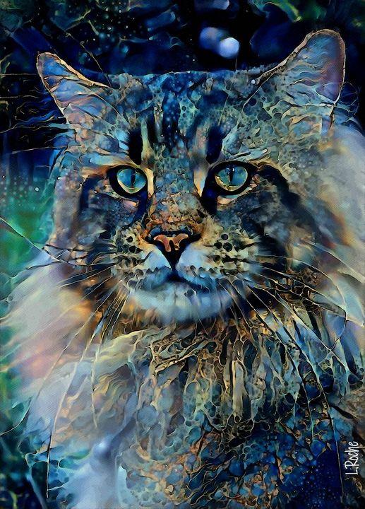 Pandoro, cat - 70x50 cm - Léa ROCHE