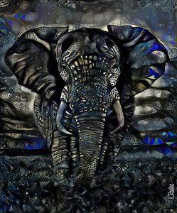 Fanty diamon - 70 x 58 cm - Elephant