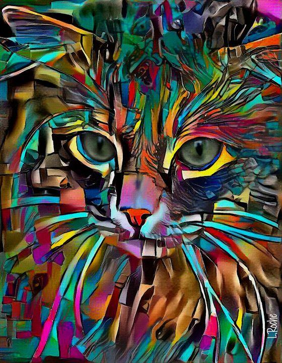 Hazaar, cat - 70x55 cm - Léa ROCHE